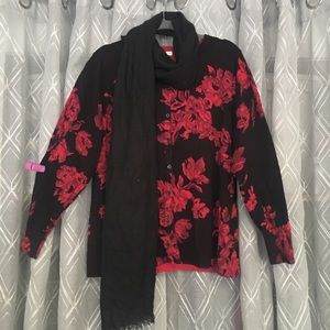 🌈 3 for $30-floral print cardigan